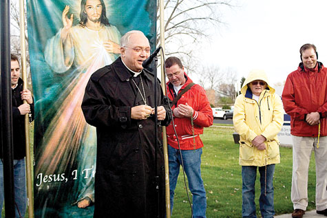 Bishop Morlino at 40 Days for Life