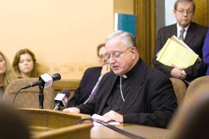 Aux Bishop Callahan at hearing