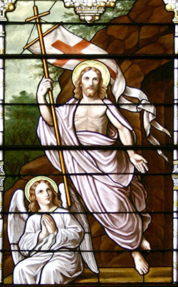 Stained Glass Window depicting the Resurrection of Christ