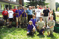 photo of living Advent wreath Eagle Scout project group