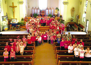 Special activities at St. John the Baptist School in Jefferson during the past month included fundraisers sponsored by the Student Council for the National Breast Cancer Foundation. (Contributed photo)