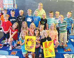 Lisa Kotz's first grade class at St. John the Baptist School in Jefferson helped raise $1,000 to support those affected by the recent tornadoes in Kansas.