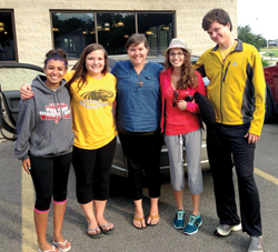 Four teens and one young adult leader from the Diocese of Madison recently departed to Rio de Janeiro for World Youth Day 2013.