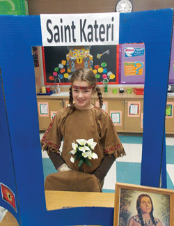 St. Kateri at the St. John the Baptist School in Waunkee Saint Wax Museum