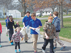 Students at St. Dennis School in Madison have a Community Clean-Up Day