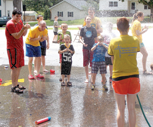 Totus Tuus Water Fight, Cottage Grove 2014
