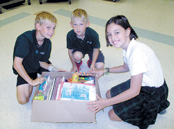 IHM students help flood victims