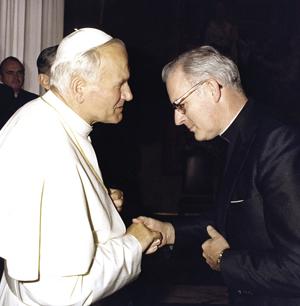 msgr. delbert schmelzer, pope John Paul II