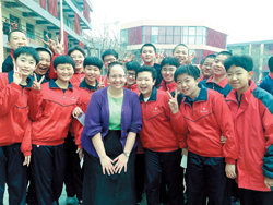 Bloomington Teacher with Chinese Students