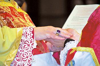 ordination hands