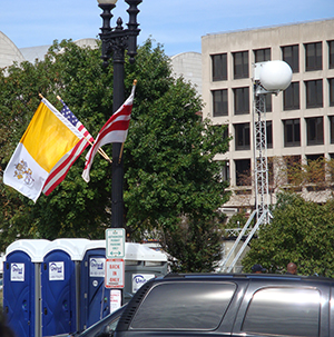 pope washington dc flags
