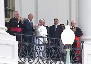 pope at white house